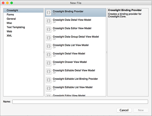 Using Crosslight Item Templates - Intersoft Crosslight - Intersoft