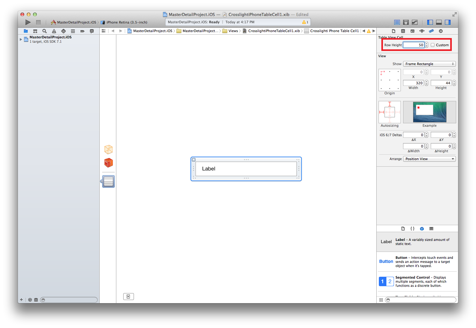 Create Custom Cell Template for iOS UITableView - Intersoft
