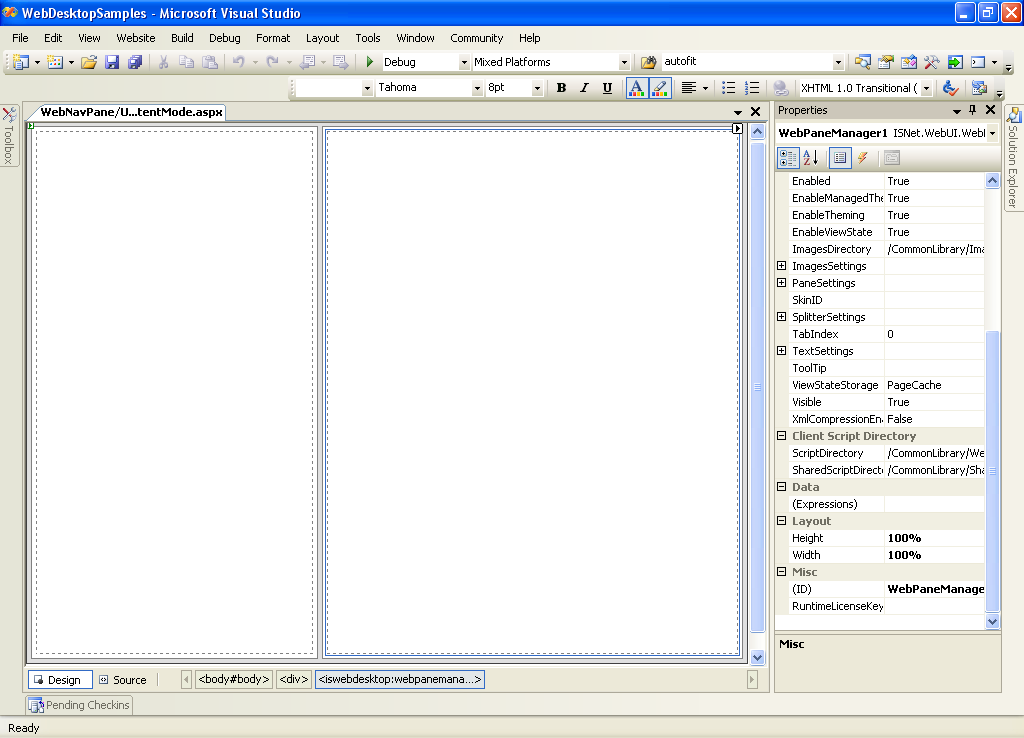 Using Template and IFrame Content Mode - Intersoft WebUI - Intersoft ...
