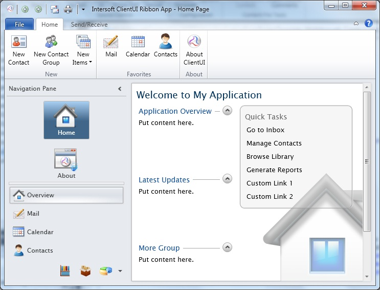 Walkthrough create a new wpf ribbon application from for Wpf menu template