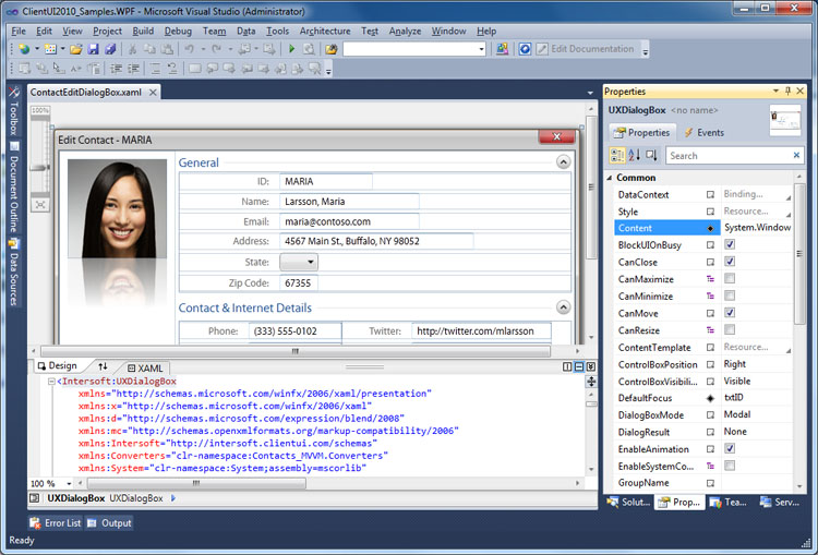 Samples Overview - Intersoft ClientUI - Intersoft Developer Center
