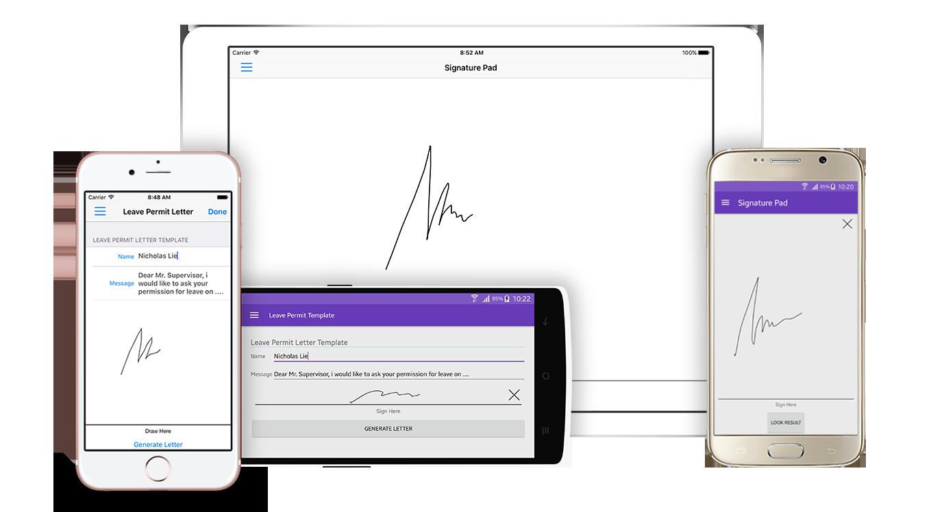 Crosslight Signature Pad Components Xamarin