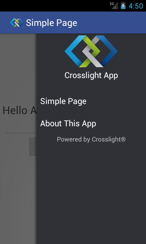 Android Drawer Navigation - Intersoft Crosslight - Intersoft