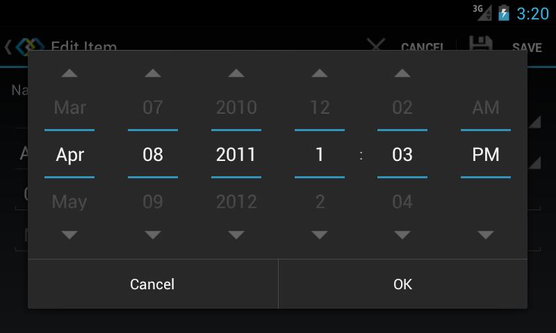date slider android Struer